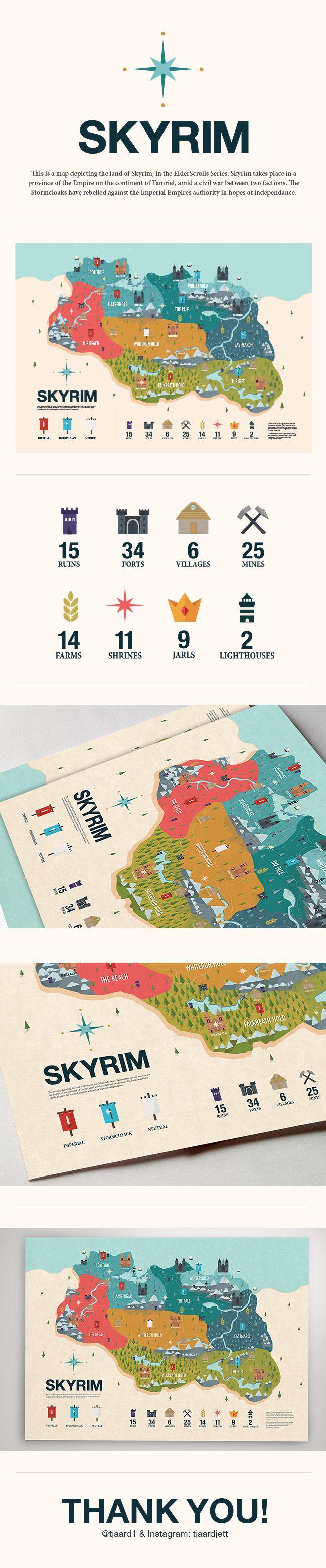 SKYRIM Infographic on Behance