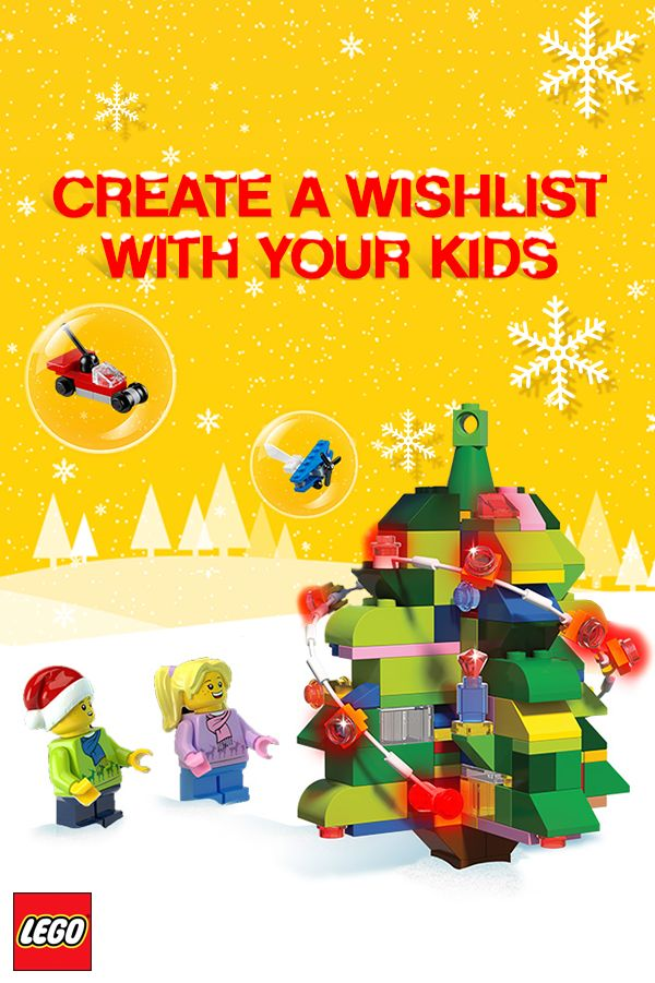 Create a LEGO® Wishlist with your kids.