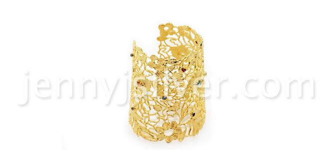 Order it here http://goo.gl/GD4FXJ Lace Gold Plate -Handmade Silver Bracelets Material: metal with gold plating, Amethyst, Citrine, Garnet, Moonstone, Topaz stones Dimension:14.5 cm L(end to end)x 7.0 cm W Weight:57 gram Price:$ 155.50 In Stock : 4 pcs
