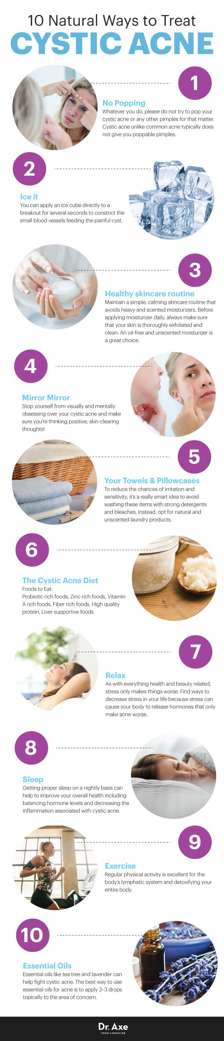 10 natural ways to treat cystic acne - Dr. Axe http://www.draxe.com #health #holistic #natural