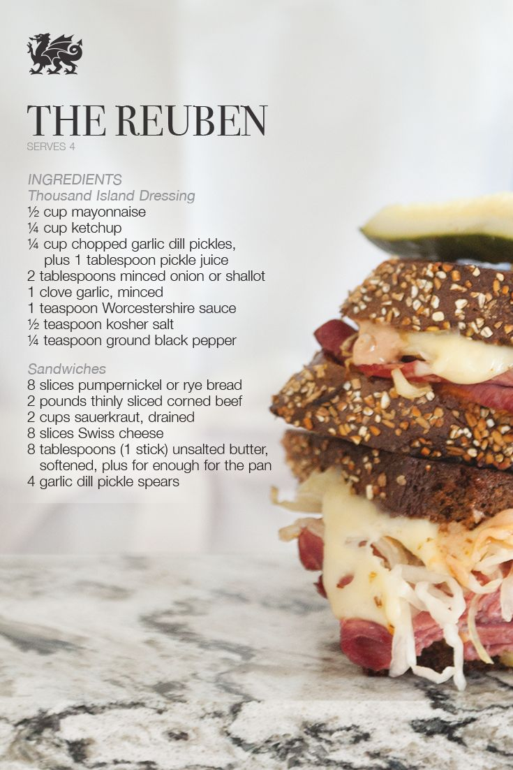 A delicious twist on the classic Reuben sandwich.