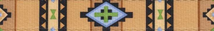 Country Brook Design 1 Inch Native Southwestern Polyester Webbing, 50 Yards. 100% Polyester. Approximately .078 inch or 2.02mm thick. 1200 lbs tensile strength. Melting point of 500 degrees Fahrenheit. UV, Rot, mildew and Moisture Resistant.