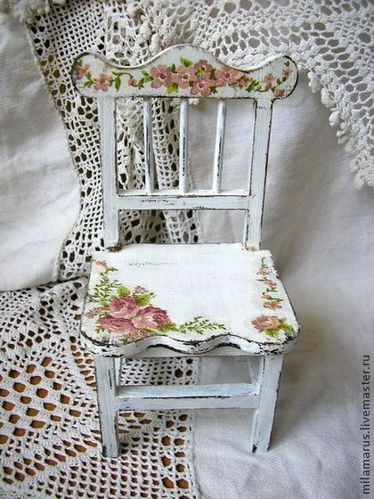 Кукольный дом ручной работы. Ярмарка Мастеров - ручная работа стульчик для любимчика. Handmade.