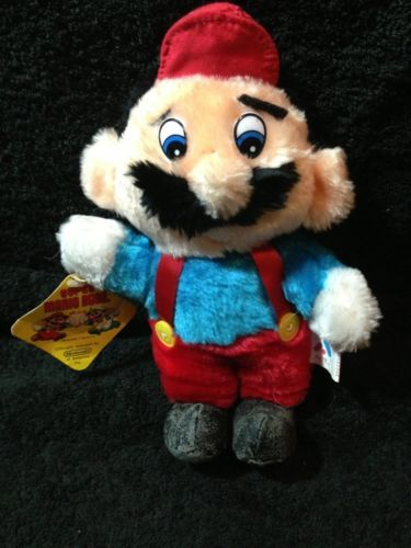 Super Mario Bros Vintage Mario Plush 9 Quot Acme 1988 Ebay