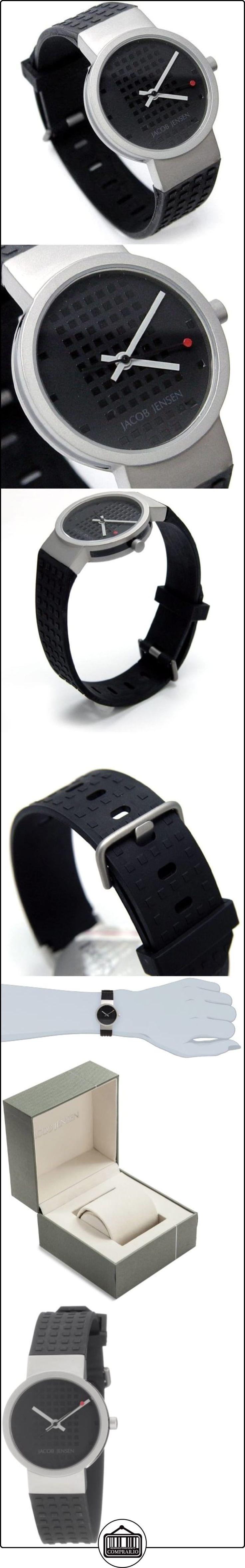 Jacob Jensen Clear Serie 32422S - Reloj de mujer de cuarzo, correa de goma color negro de  ✿ Relojes para mujer - (Gama media/alta) ✿