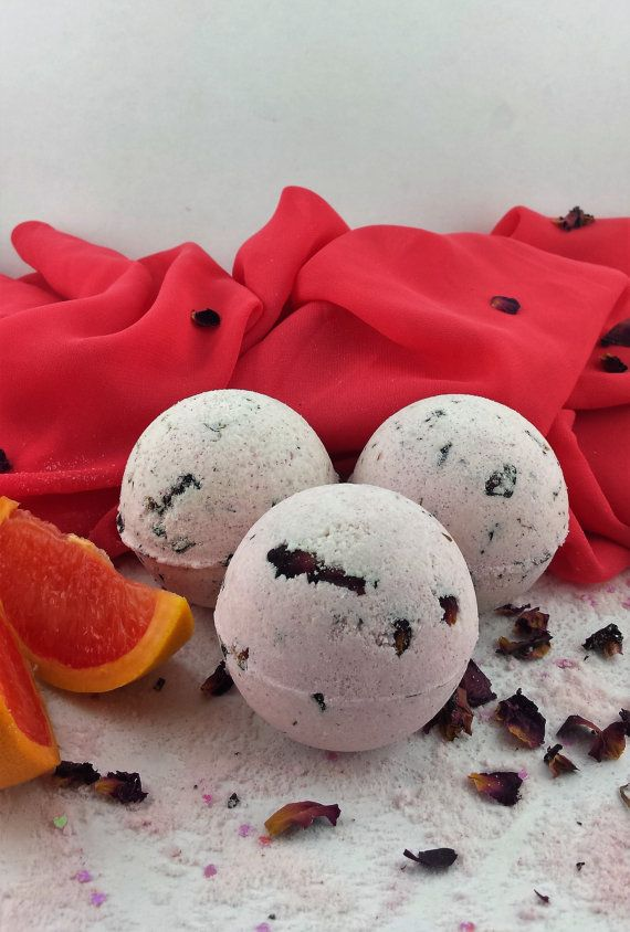 Deluxe Rose & Grapefruit Bath Bombs with Bath Melt by Bath Abode
