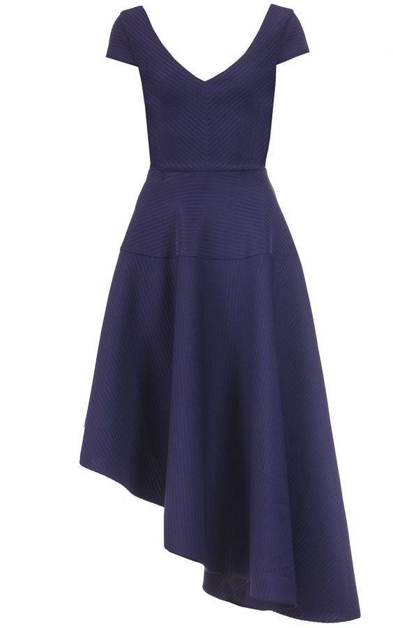 e4e448a30cb1 Quiz navy asymmetrisk kjole