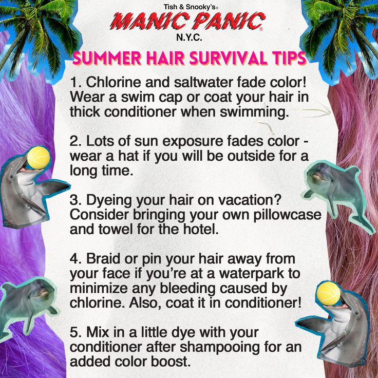 MANIC PANIC Summer Hair Survival Guide. #hairdye #rainbowhair #pastelhair