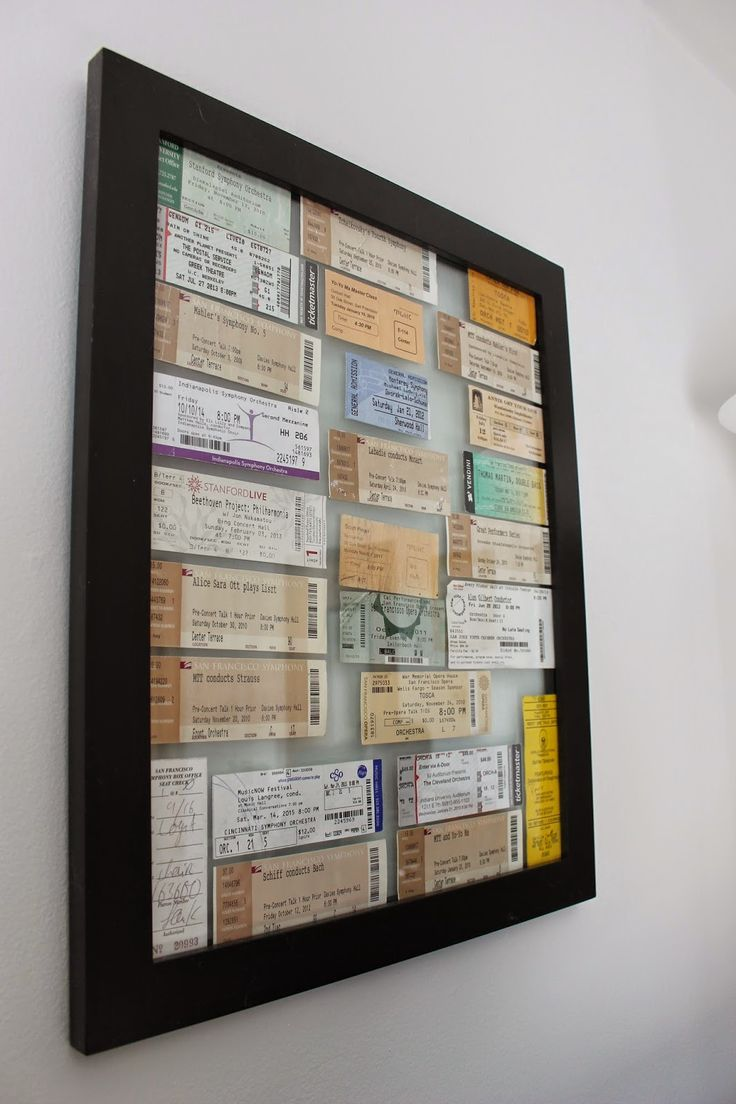 Framed concert ticket wall art