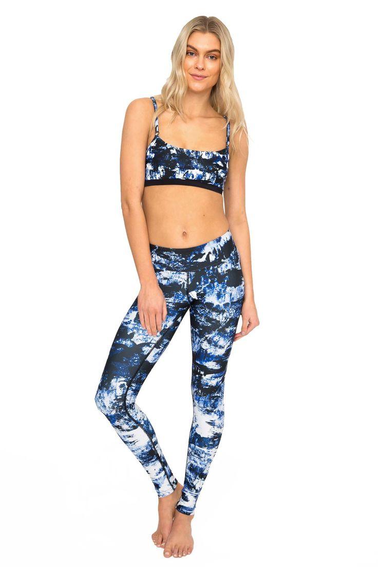 Chaos High Waist Printed Activewear and Yoga Legging - Full Length