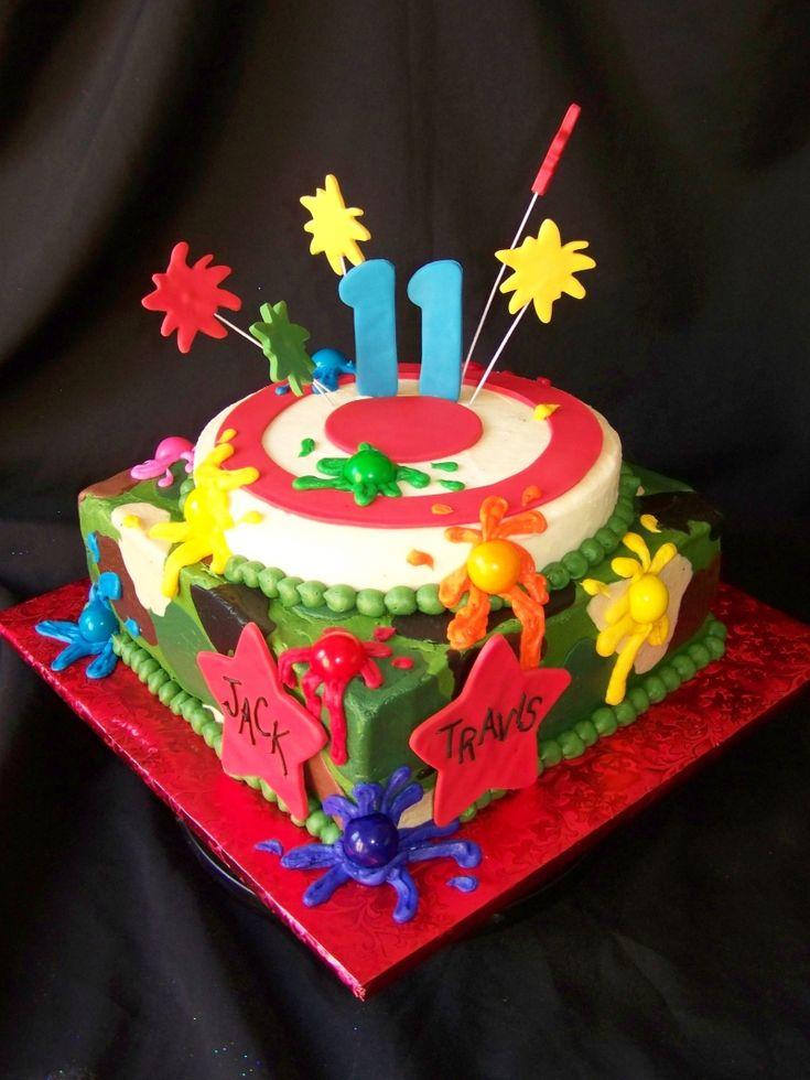 Soccer Ball Cake Design : Paintball cake Party Ideas Pinterest