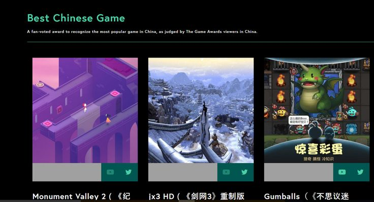 Why is there a 'best Chinese game' award? What's so special about Chinese games?