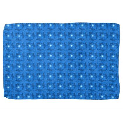 Blue Flowers in 3D  Artdeco Hand Towel - kitchen gifts diy ideas decor special unique individual customized
