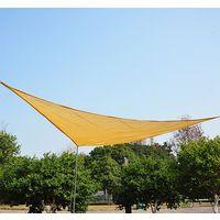 Toldo Vela Triángulo tipo Sombrilla Parasol para Terraza Jardín y Camping - Color Arena - Polietileno - 5x5x5m Color Arena