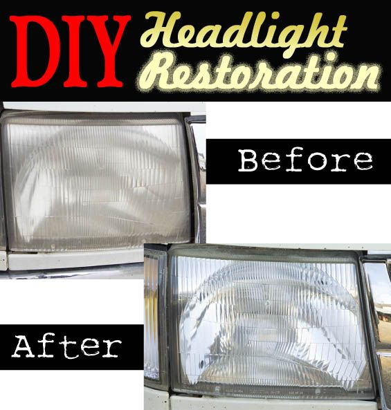 how to clean car headlights diy