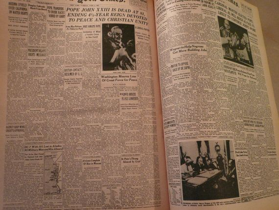 Vintage New York Times Newsprint Paper 1920s to by Tasteliberty, $13.00