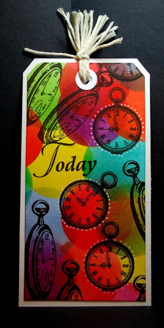 Eileen's Crafty Zone: Clarity Stamps and Distress Inks Tag