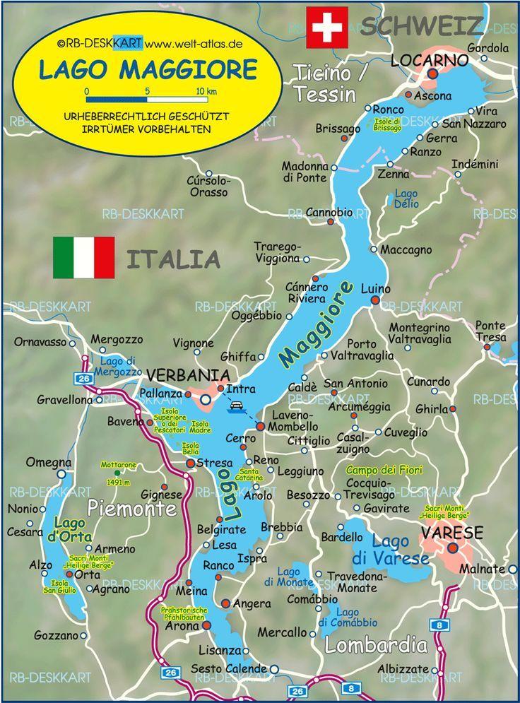 Karte Von Lago Maggiore Lago Maggiore Italien Schweiz Karte