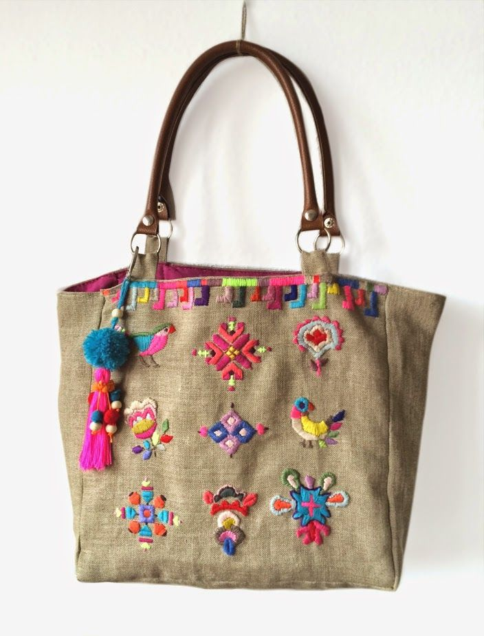 1000 ideas sobre artesan as de arpillera en pinterest - Bolsos manualidades originales ...