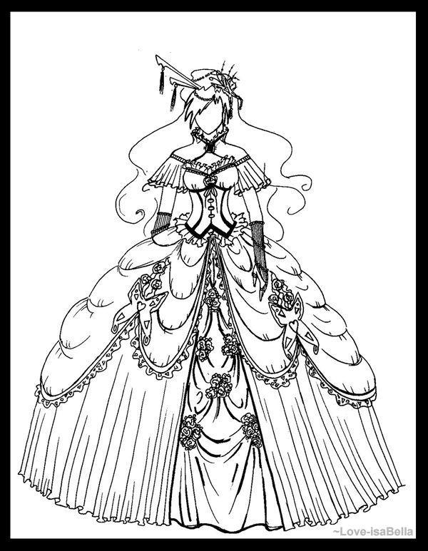 Rococo Dress by AnaIsabelaSantos on DeviantArt