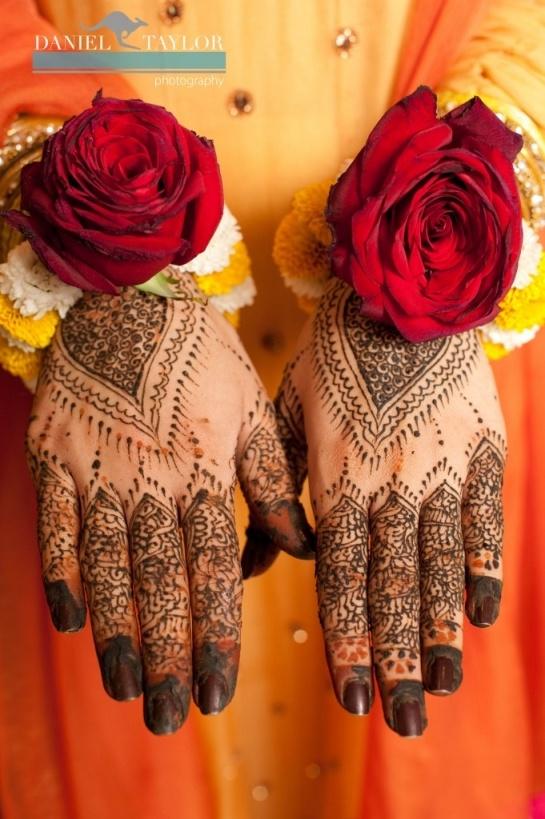 Intricate Pakistani wedding mehndi. (Daniel Taylor Photography)