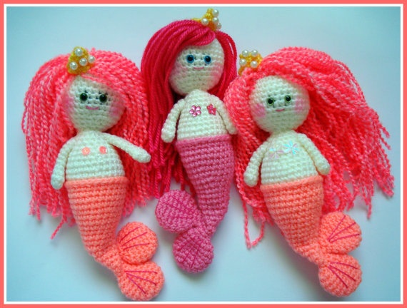 ... , Amigurumi Pattern, Mermaid Girl, PDF Amigurumi, Crochet Pat