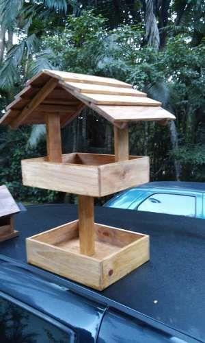 comedor duplo tratador comedouro aves pássaros alimentador