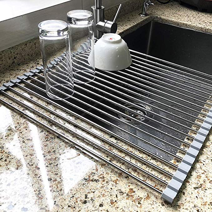 Amazon Com 17 7 X 15 5 Large Dish Drying Rack Attom Tech Home