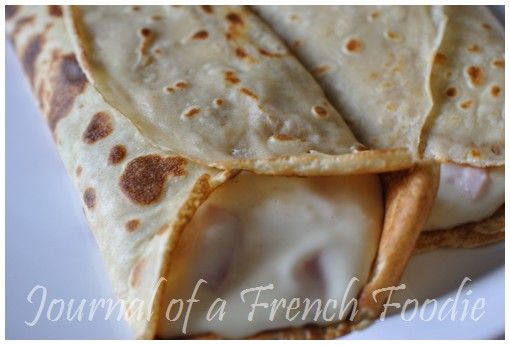 Crêpes au jambon/fromage (ham and cheese filled pancakes)