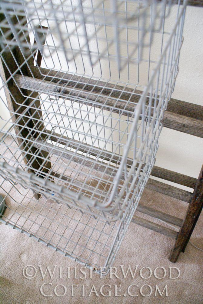 25 Beste Idee N Over Vintage Wire Baskets Op Pinterest