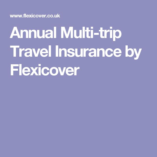 Annual Multi-trip Travel Insurance by Flexicover