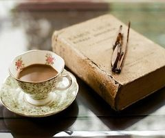 reading with tea.