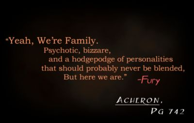 Dark-Hunter Quotes  - I'm not familiar with this series but this quote is amazing.  pretty much describes my family lol