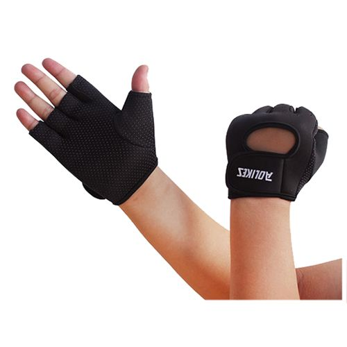 For Weight Lifting AOLIKES Men Womens Sports Fitness Exercise Gloves Workout Weight Lifting Gym Mittens black S M L