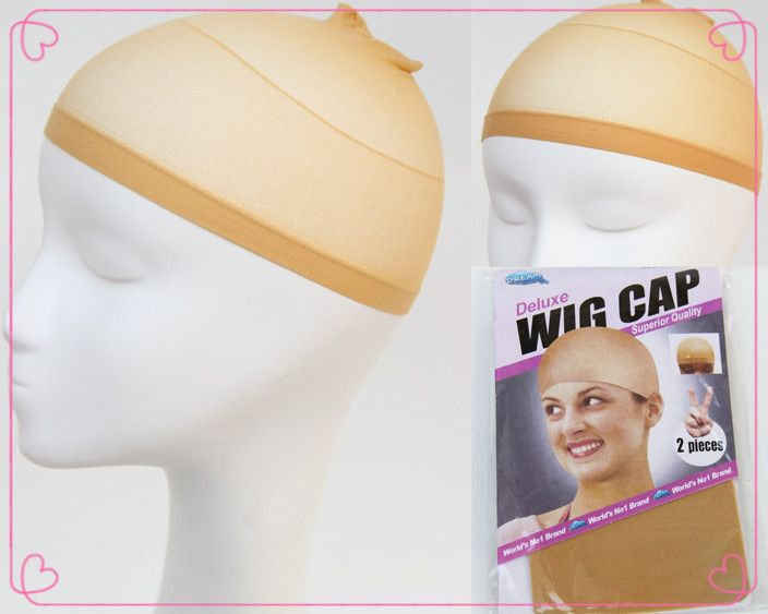 Stockings Wholesale Factory Price Beige Deluxe Wig Cap/Beige Black Bonde Three Color Hairnets Available 4pcs/packageFreeShipping
