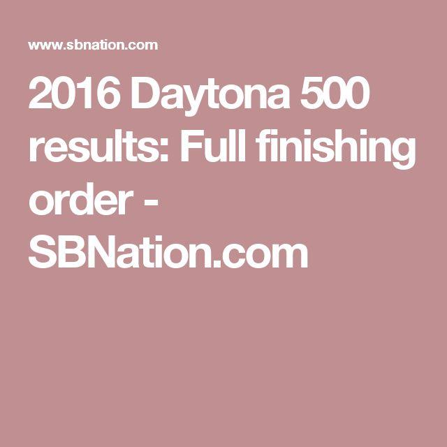 2016 Daytona 500 results: Full finishing order - SBNation.com