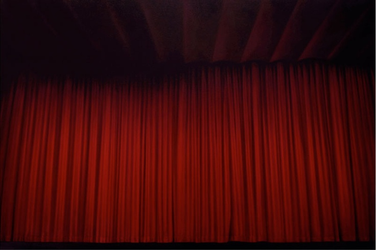 Curtain, 2010  Peter Rostovsky  Oil on linen