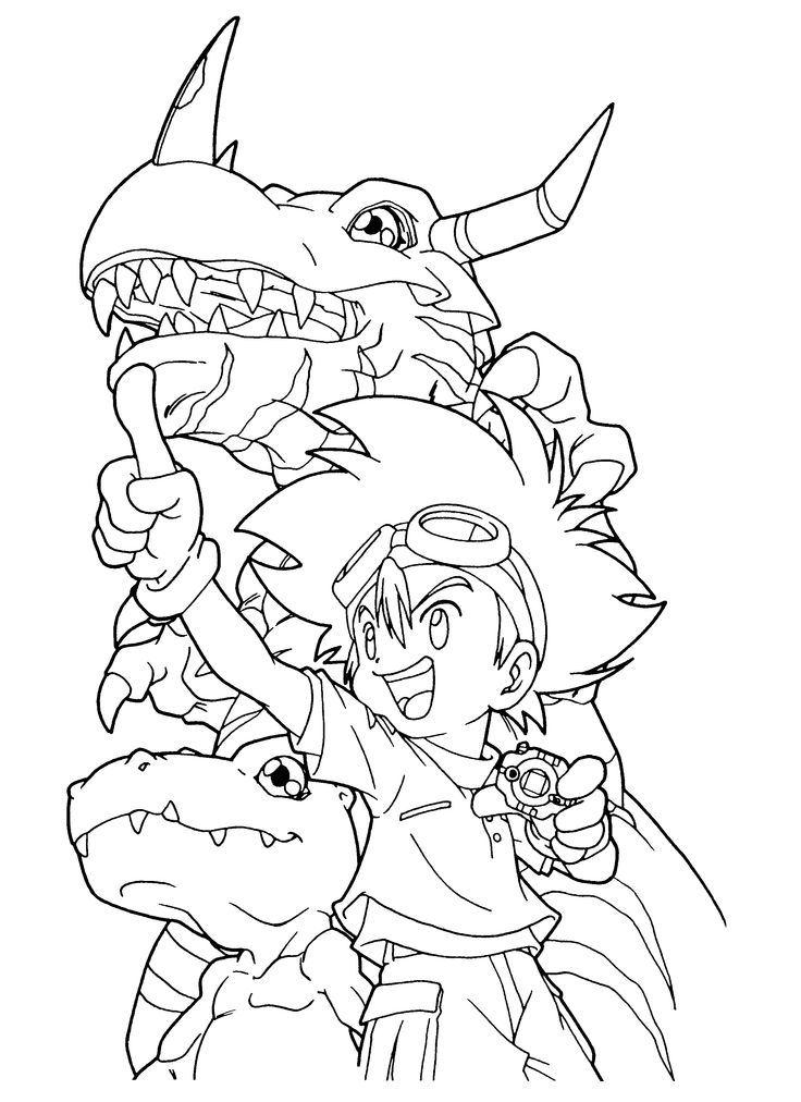 Free Digimon Coloring Page Pages 101 Printable