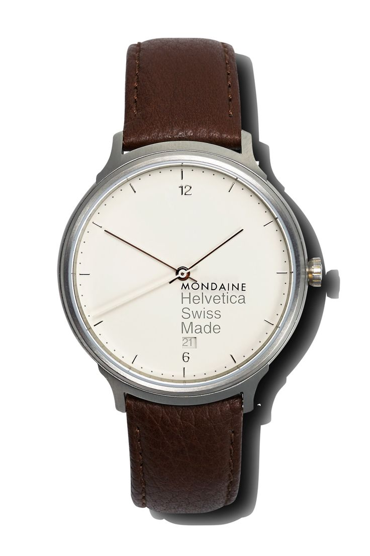 "If it's Mondaine, you're thinking: ""This will be a watch based on a Swiss railway clock..."" Watch of the collectionWell, you're wrong. Mondaine has gone off-piste with the Helvetica No. 1. It's still resolutely Swiss, in that its dial has the ubiquitous Helvetica typeface (which is so popular it has even been converted into Chinese), while the strap lugs are in the shape of the Helvetica figure one. From £230 to £325. mondaine.ch"