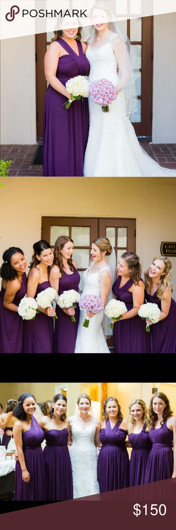Best 25 davids bridal versa dress ideas on pinterest davids davids bridal plum bridesmaid dress davids bridal mesh convertible long bridesmaid dress in plum in size ombrellifo Image collections