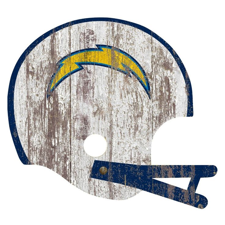 NFL Los Angeles Chargers Distressed Helmet Cutout Sign
