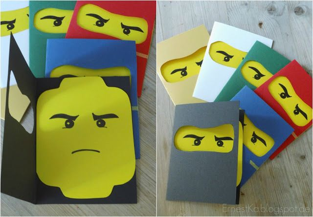 Lego Ninjago Party- Einladungen- Invitations