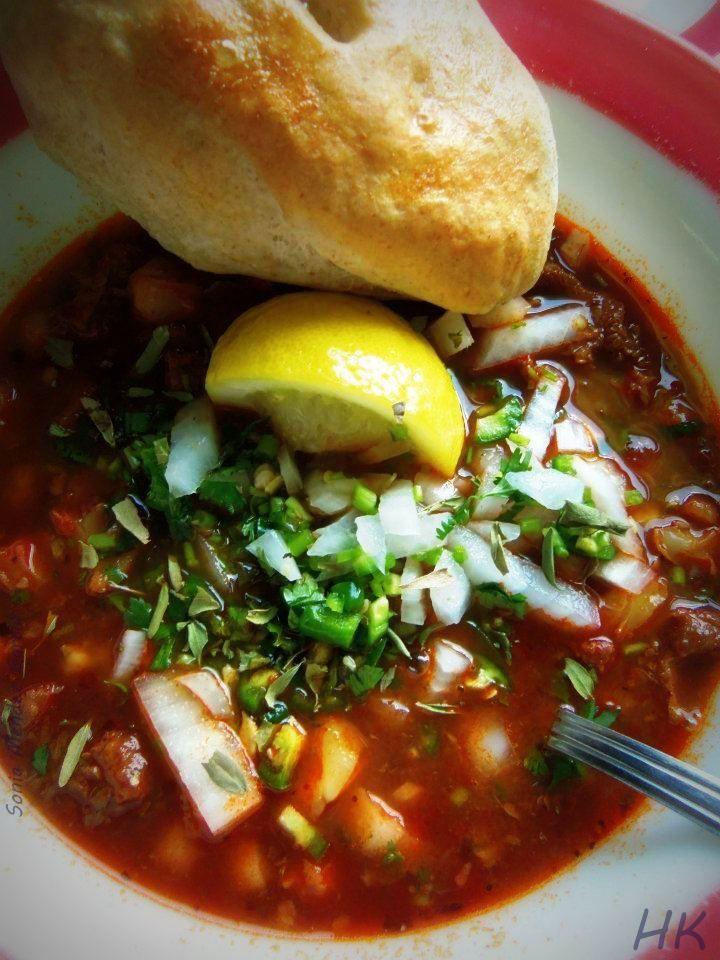 Menudo (Tripe Stew) HispanicKitchen.com