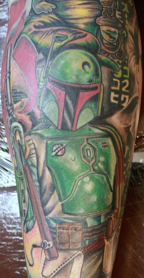 Star Wars Boba Fett Tattoo