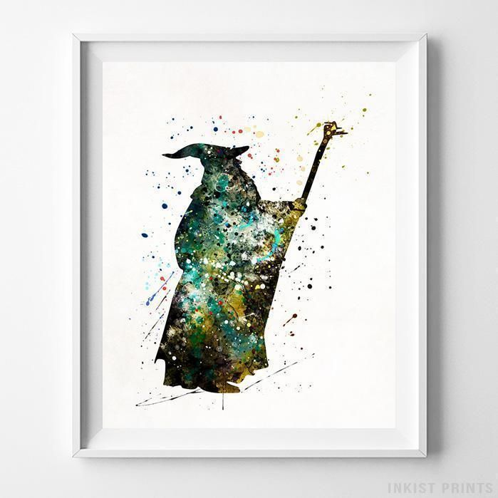 Lord of the rings inspired gandalf poster print wall art decor lotr the hobbit