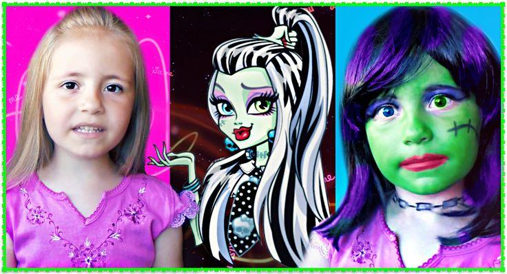 Макияж Монстр Хай Френки Штейн  Frankie Stein Monster High Doll Costume ...