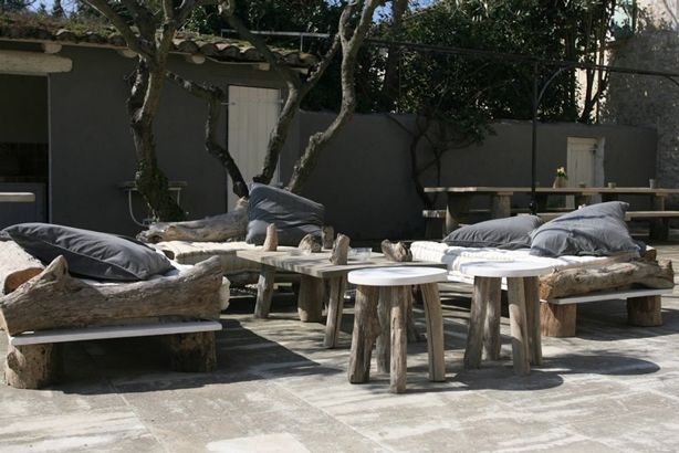 New Indoor-Outdoor Furniture Collection Blends Driftwood With ...