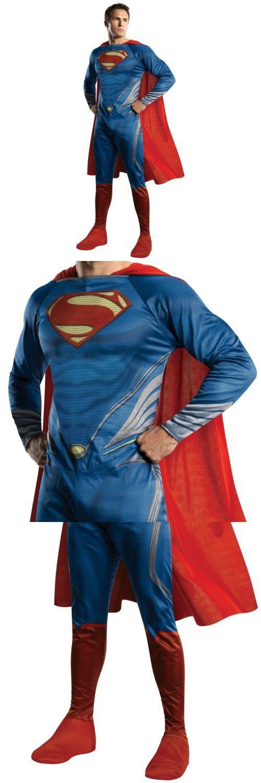 Halloween Costumes Men: Superman Adult Costume Man Of Steel Movie Superhero Halloween Fancy Dress -> BUY IT NOW ONLY: $44.99 on eBay!