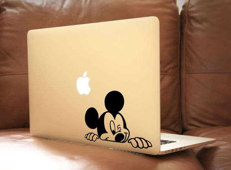 Mickey Mouse Laptop Decal Macbook Vinyl Decal Car Sticker by BoomStickers on Etsy