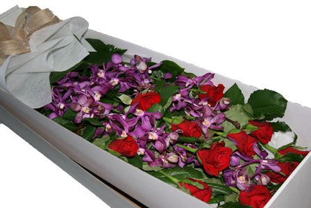 Orchid and Roses Gift Boxed